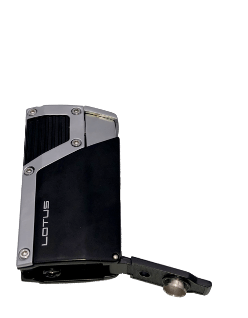 Czar 4-Flame Torch Lighter - Black Matte and Chrome Velour
