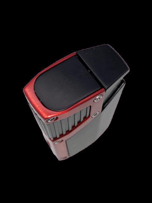 Czar 4-Flame Torch Lighter - Black Matte & Red