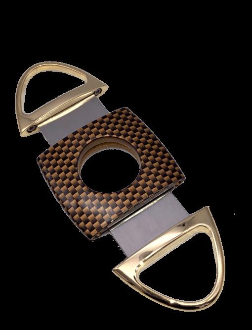 Jaws Serrated Cigar - Carbon Fiber & Gold
