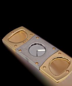 Cigar Cutter Gold & Pinstripe