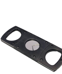 Cigar Cutter Satin & Polished Black Stainless Steel
