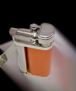 Tomo Orange Leather Pipe Lighter