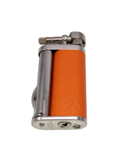 Tomo Orange Leather Pipe Lighter