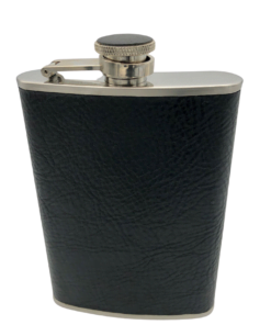 Brizard Flask Sunrise Black Leather