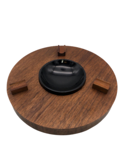 Ashtray Round Walnut