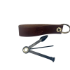 Leather 1 Pipe Stand and Tool - Brown